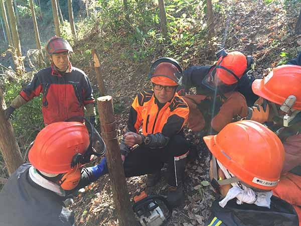 チェーンソーによる安全な伐木技術・技能研修会・ 審査会