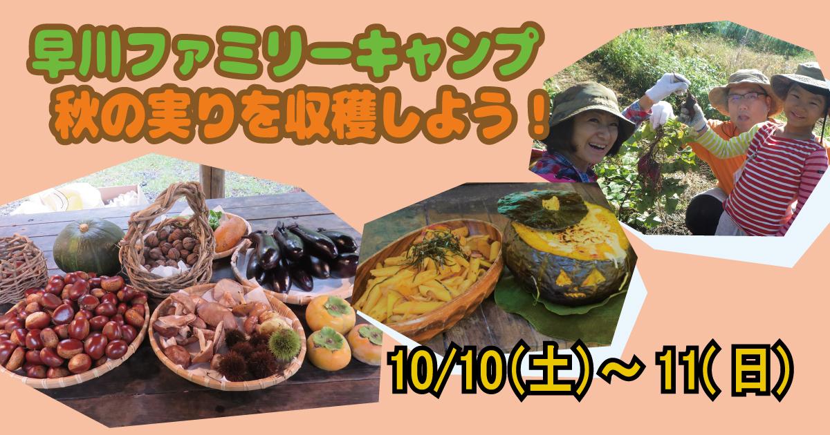 早川ファミリーキャンプ 秋の実りを収穫しよう!